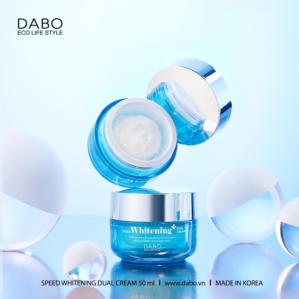 Kem trắng da ngừa nám DABO Speed Whitening Dual Cream