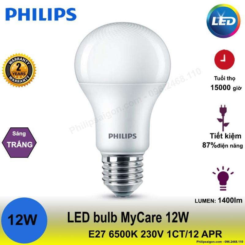 Bóng đèn Philips LEDBulb 12W E27 6500K/3000K 230V A60 1CT/12 APR
