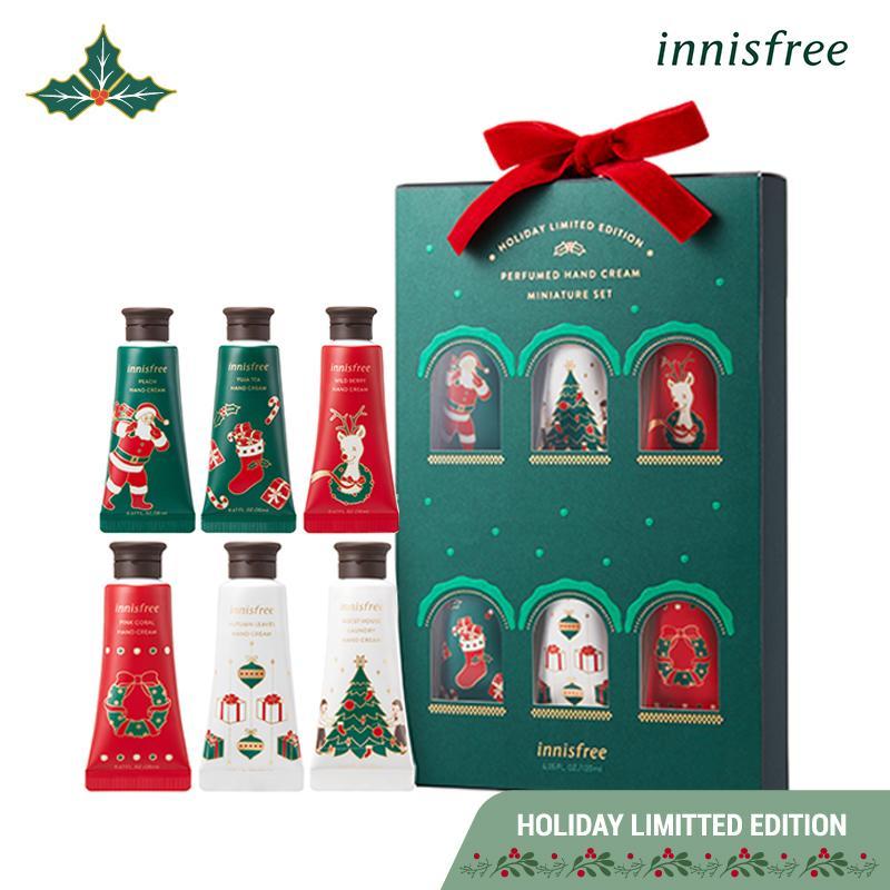 Bộ sản phẩm Kem dưỡng da tay innisfree Jeju Life Perfumed Handcream Miniature Set 20ml *6 (Phiên bản Holiday)