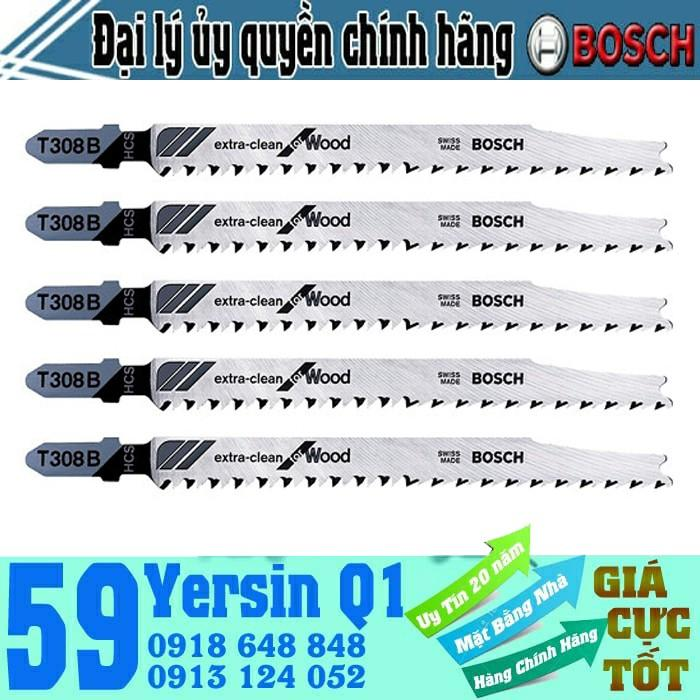 Bộ 5 lưỡi cưa lọng cho gỗ T308B - BIM 2608663751
