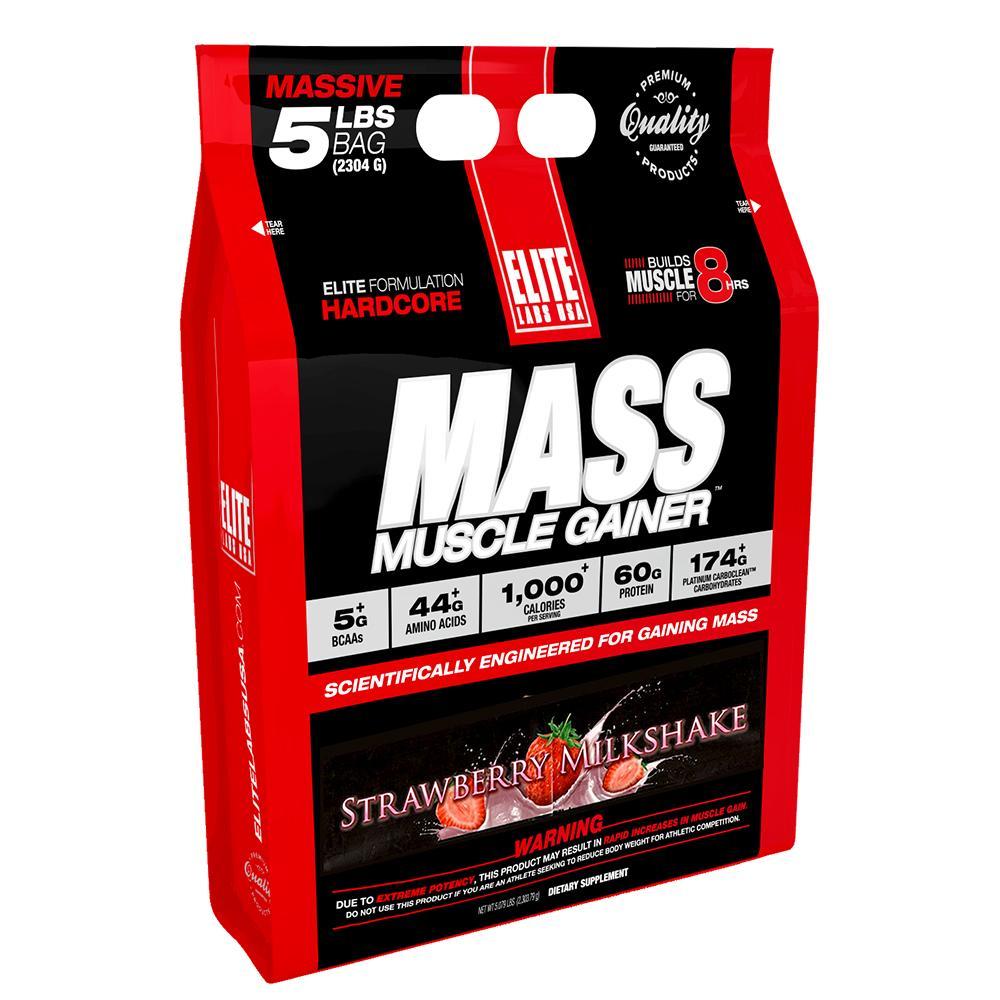 Sữa Uống Tăng Cơ Tăng Cân Vị Dâu EL254 Elite Labs Mass Muscle Gainer Strawberry EL254 (2.304g)