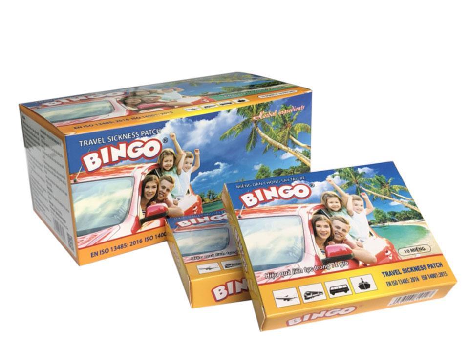 Hình ảnh Hộp 10 miếng dán chống say tàu xe Bingo