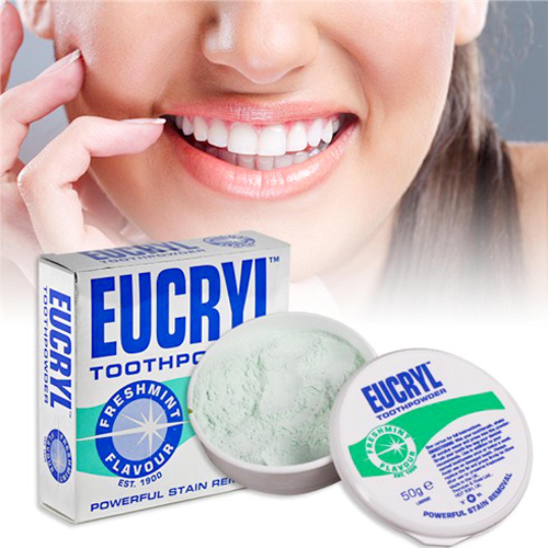 Hình ảnh Bột Tẩy Trắng Răng Eucryl Chính Hãng Anh Quốc 50gram