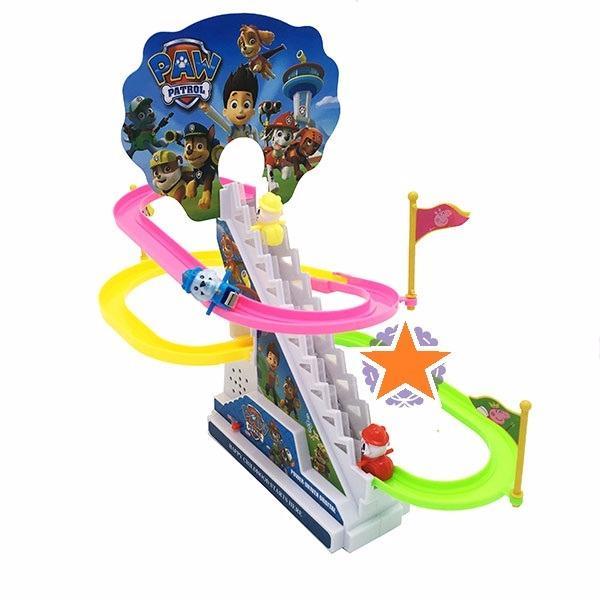 Hình ảnh Hộp đồ chơi chó cứu hộ leo thang 2 tầng có đèn nhạc (pin)