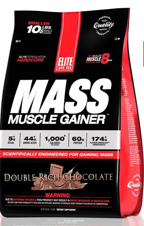 Hình ảnh Sữa tăng cân tăng cơ vị socola Mass Muscle Gainer 10.16 lb/4.62 kg Chocolate
