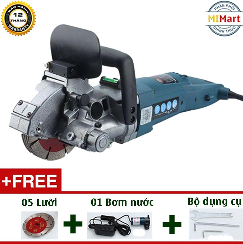 Máy cắt rãnh tường 5 lưỡi Caowang CW6121 (4800W) - Tặng kèm Máy bơm nước Mini