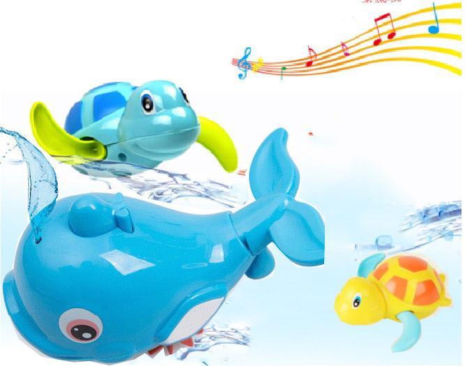 Hình ảnh Combo Bộ Nhà Tắm Cá Heo Phun Nước Rùa Biết Bơi