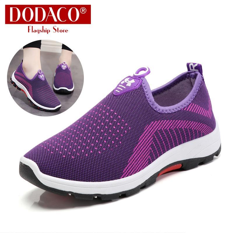 Giày mọi nữ đế bằng DODACO DDC2025 A67 Giày lười slip on đẹp giá rẻ mẫu mới hot trends 2019 màu đen đỏ tím xám giầy giay moi nu de bang giay luoi dep gia re mau moi mau den do tim xam Nhật Bản