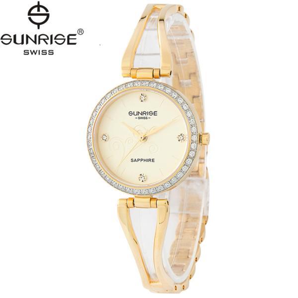 Đồng hồ nữ dây kim loại mặt kính sapphire chống xước Sunrise SL9934DLK V