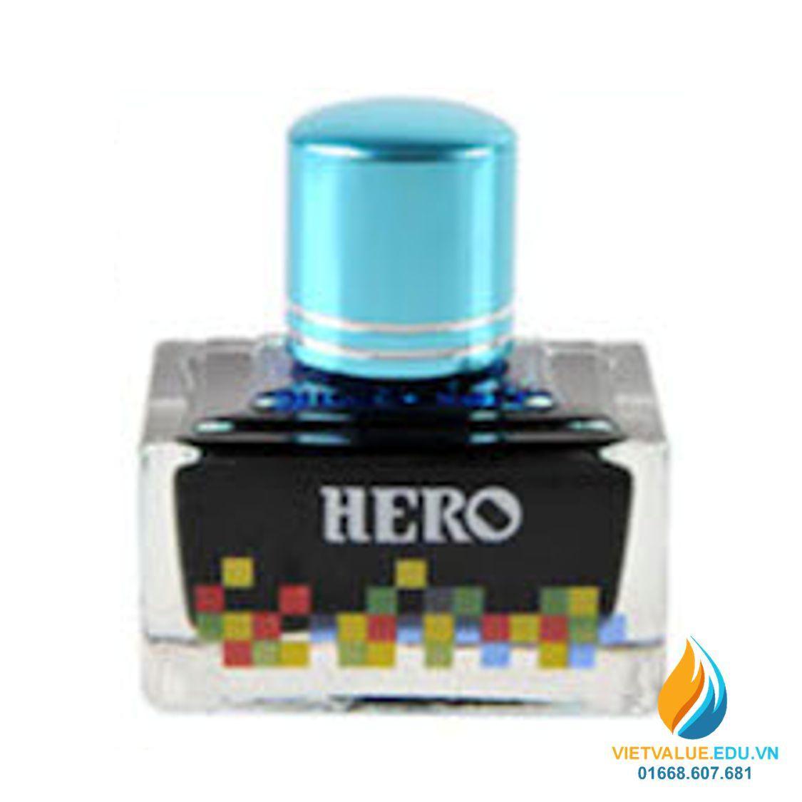 Mua Mực Hero thường cho bút máy, 40ml, màu xanh mây trời mã 7101