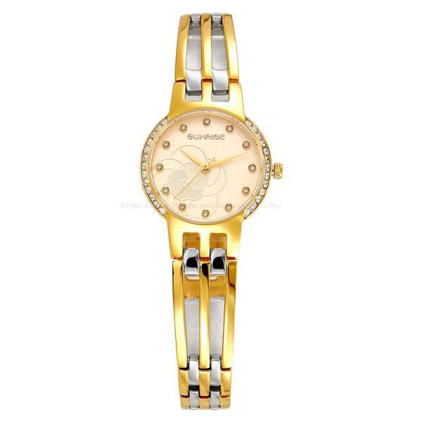 Đồng hồ nữ siêu mỏng Sunrise 9932AA Đính đá Fullbox hãng kính Sapphire chống xước
