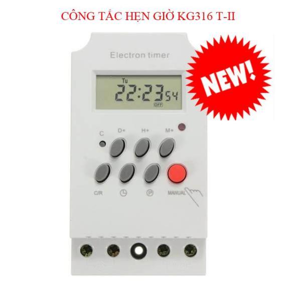 Công tắc hẹn giờ KG316 T-II, công suất 25A/220V, timer hẹn giờ bật tắt điện tự động, công tắc hẹn giờ bật tắt máy bơm, công tắc hẹn giờ thông minh