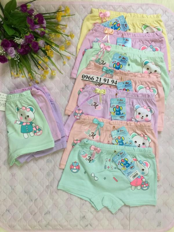 Nơi bán 03 Quần Lót đùi gấu bé gái cao cấp 2-10T hàng Quảng Châu