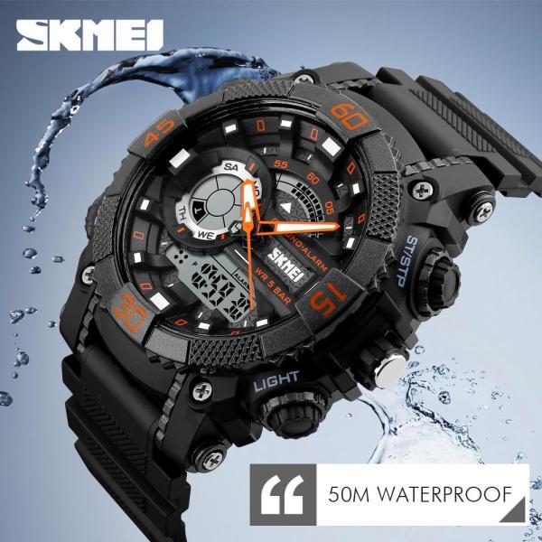 (Cập nhật 2019)Đồng hồ thể thao nam chống nước Skmei K03 dây nhựa siêu bền