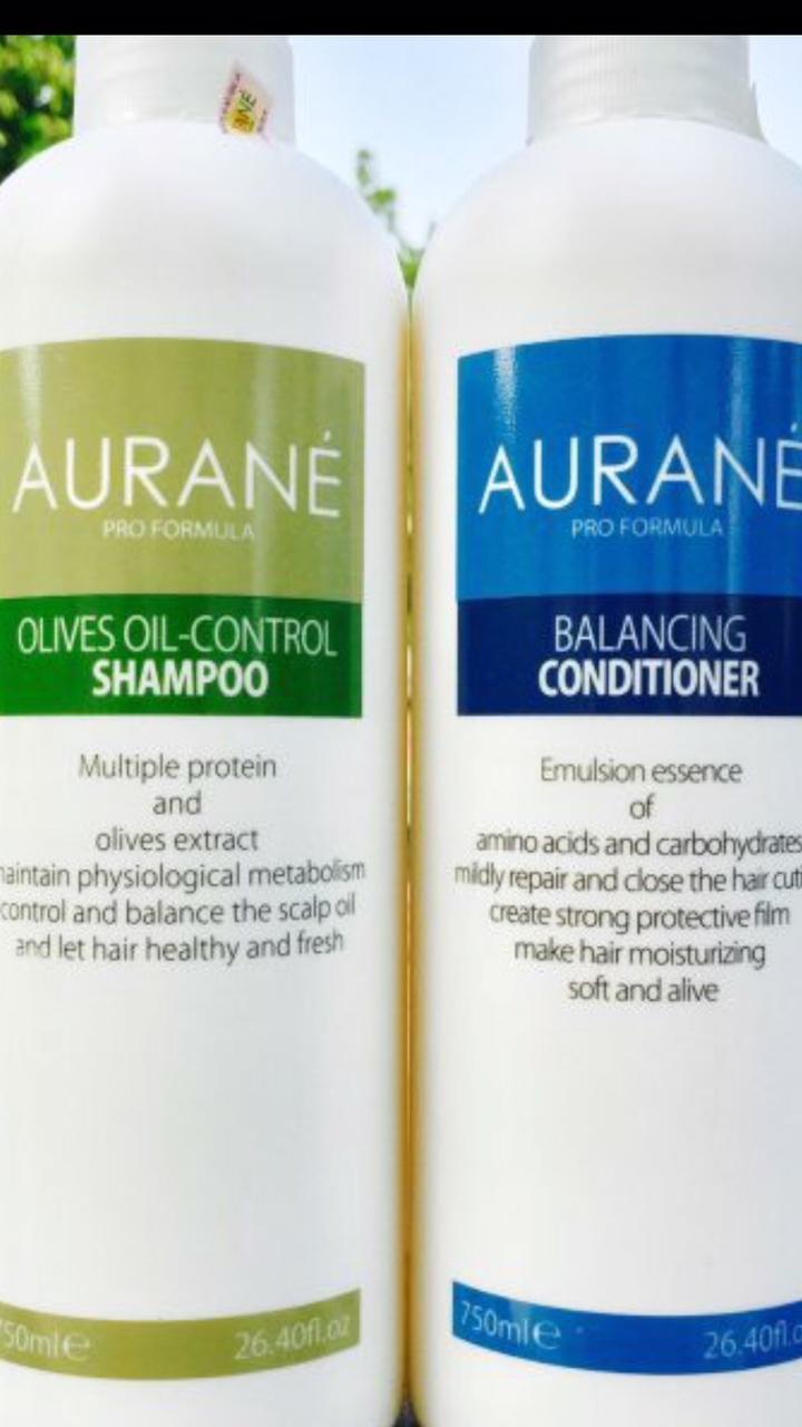 Bộ đôi dầu gội trị gàu và dầu xả dinh dưỡng Aurane