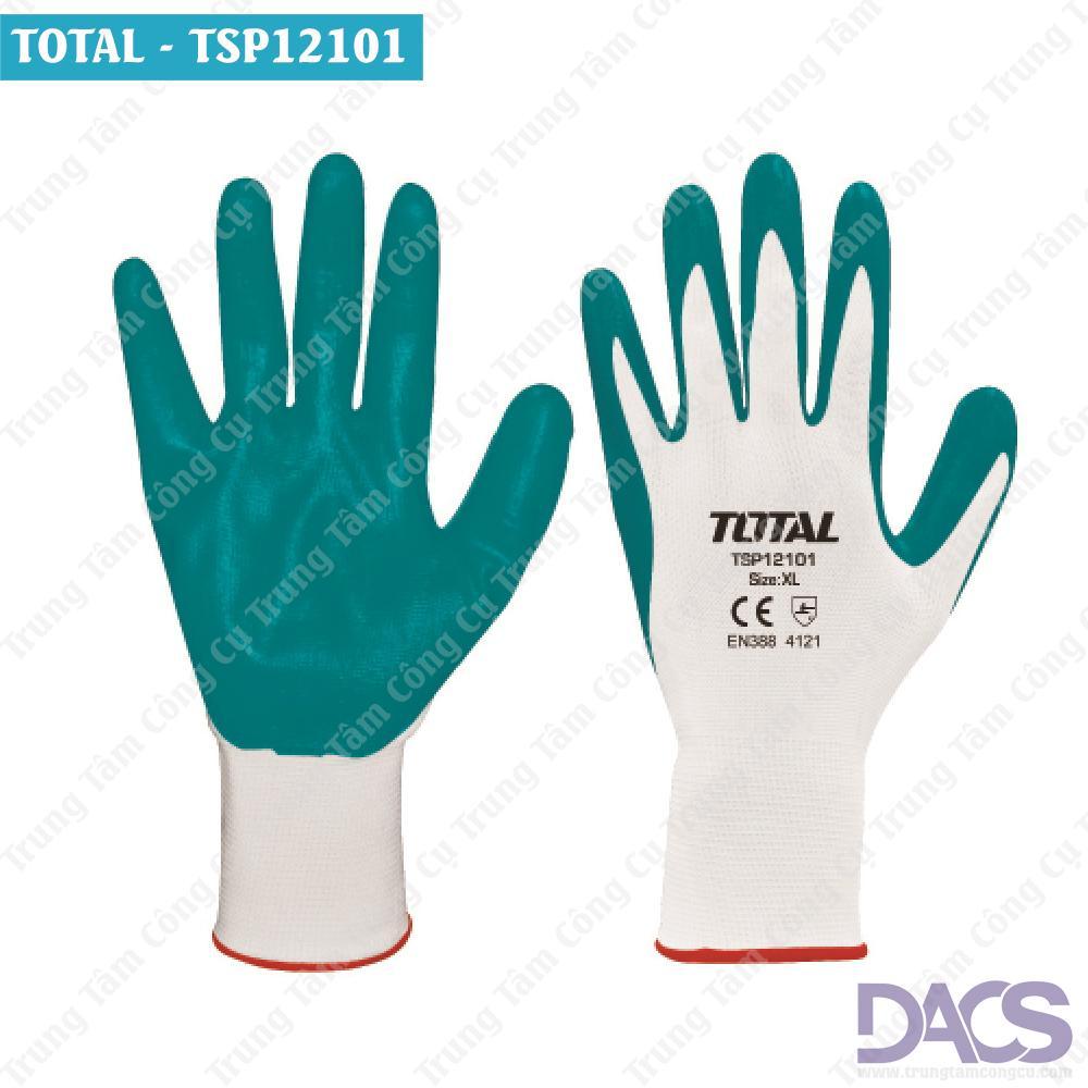 Hình ảnh Găng tay NITRILE (bảo vệ an toan trong môi trường hóa chất) Total TSP12101
