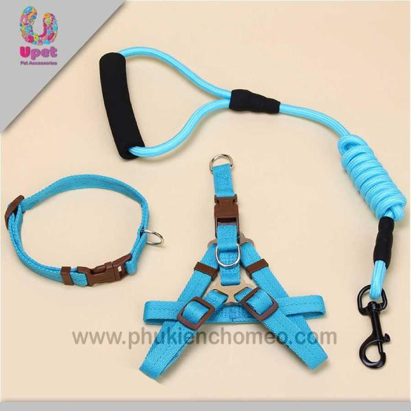 HCM-SP1049 - Dây dắt chó hình yên ngựa tay cầm sợi tròn tam giác ( 4711891)-HP10712TC