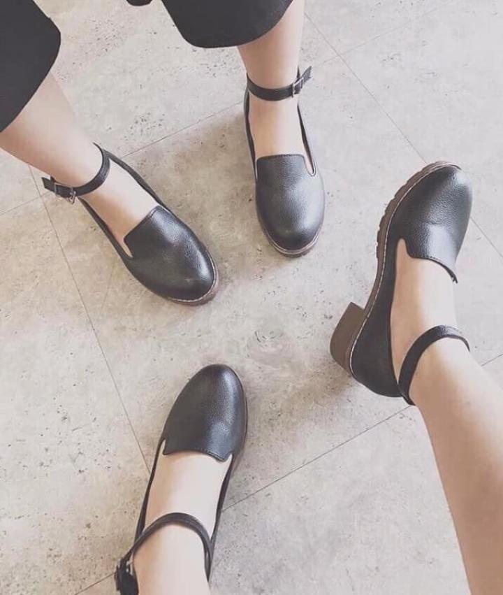 Giày mọi quai đế chiến binh-đen giá rẻ