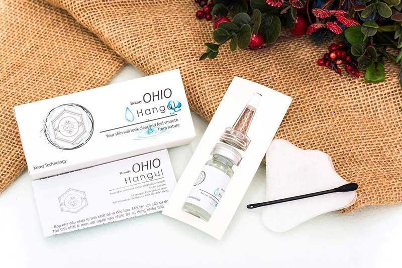 serum ủ mụn làm trắng da - ngừa lão hóa OHIO NEW DAY  Đánh Bay Mụn Đầu Đen, Mụn Cám (tặng kèm bộ nhíp cây nặn mụn)