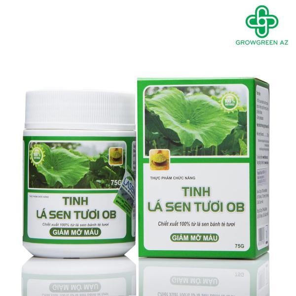 [COMBO 4 HỘP] Tinh lá sen tươi OB giảm mỡ máu, giúp giảm thừa cân cao cấp
