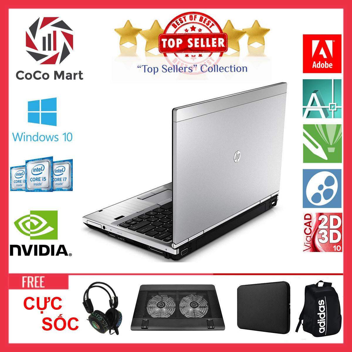 Laptop HP EliteBook 2560p Chạy CPU i5-2520M, 12.5inch, 4GB, SSD 240GB + Bộ Quà Tặng - Hàng Nhập Khẩu