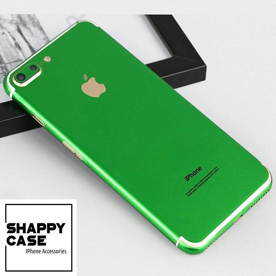 Hình ảnh Skin Dán Iphone Nhôm Nhung Xanh Lá IMEI 6/6P/7/7P/8/8P/X/Xs [Shappy Case]