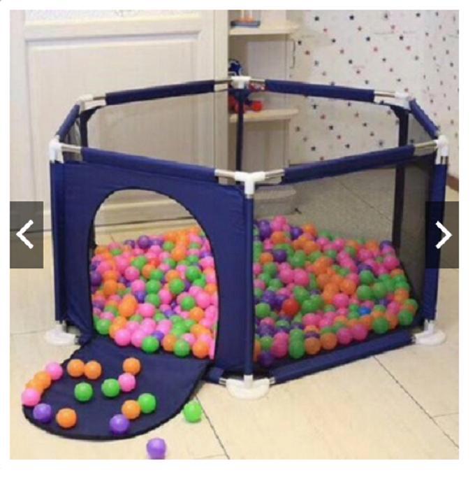 Hình ảnh Khuây bóng khung thép vui chơi cho bé kèm 100 bóng