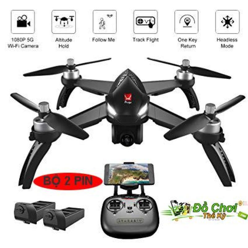 ( Bộ Sản Phẩm 2 Pin ) Máy bay MJX bugs 5W – GPS, follow me , truyền hình ảnh về điện thoại, camera chỉnh góc xoay