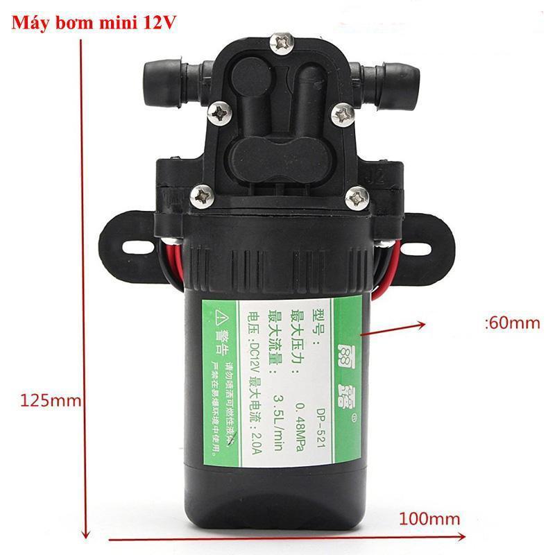 Hình ảnh Bơm cao áp mini  May rua xe 12v  Máy bơm mini 12v đa năng, Nhỏ gọn cơ động và dễ sử dụng SP CHẤT LƯỢNG CAO BH UY TÍN. DDS-2286