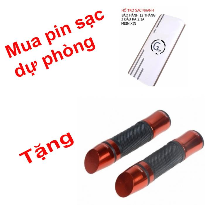 Hình ảnh Pin sạc dự phòng G01 Litinum 20000MAH (Trắng)-3 CỖNG RA + TẶNG 1 CẶP BAO TAY GÙ XÉO CHO XE MÁY