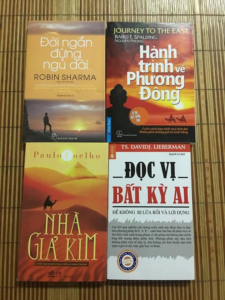 Mua Combo 4 Sách Kỹ Năng: Nhà Giả Kim, Đọc Vị Bất Kỳ Ai, Đời Ngắn Đừng Ngủ Dài, Hành Trình Về Phương Đông