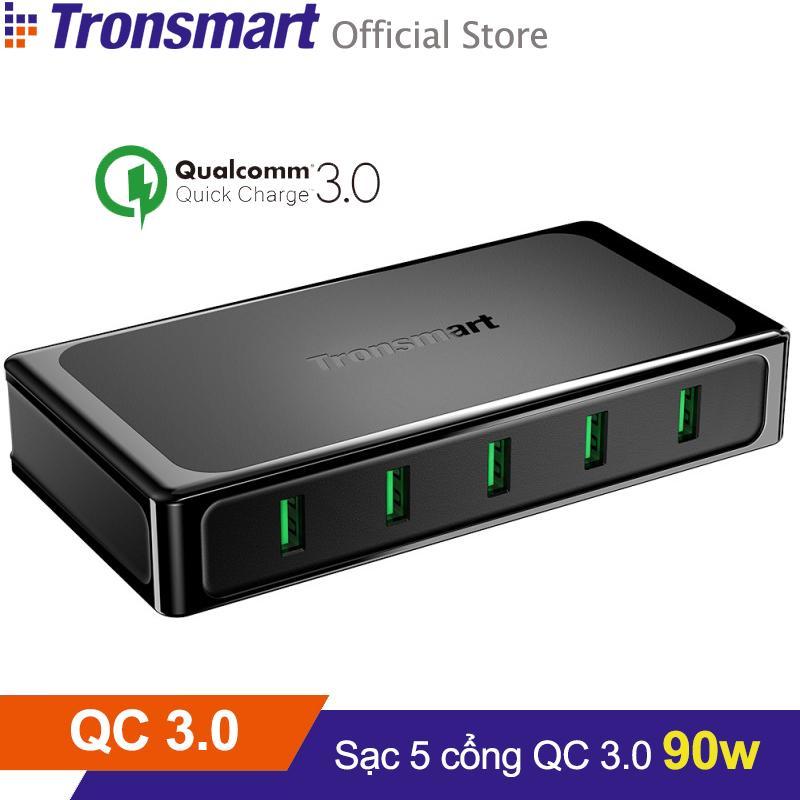 Sạc TRONSMART U5TF 5 cổng 90w Quick Charge 3.0 - Hãng phân phối chính thức