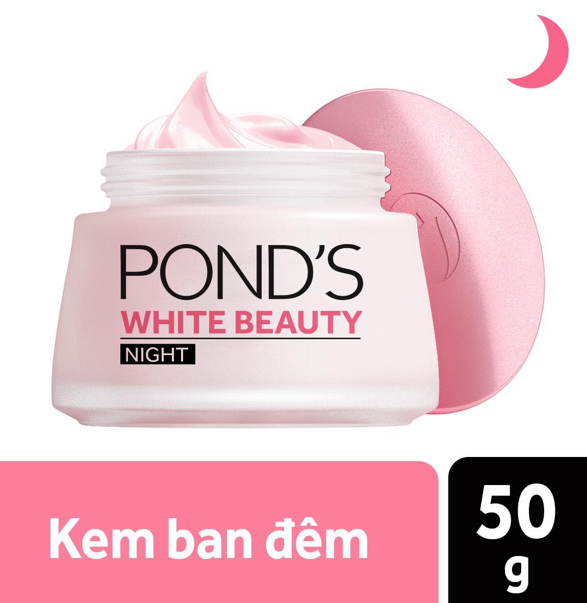 Kem dưỡng da trắng hồng rạng rỡ PONDS White Beauty Ban đêm 50g