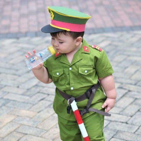 Bộ quần áo công an hình sự trẻ em