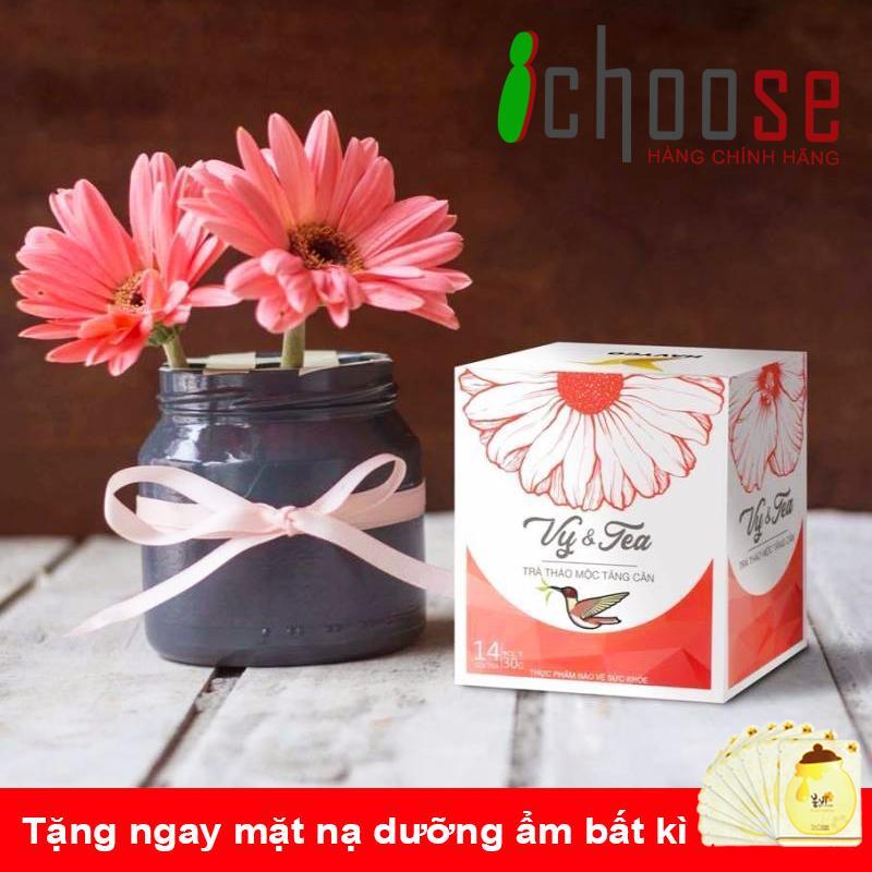 Trà thảo mộc tăng cân Vy & Tea - Tặng mặt nạ dưỡng ẩm bất kì nhập khẩu