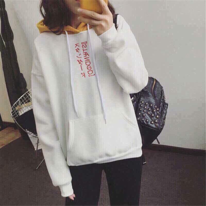 Áo khoác hoodie nữ chữ nhật siêu đẹp KG60