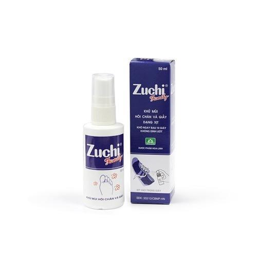 Khử mùi hôi chân và giầy Zuchi dạng xịt 50ml