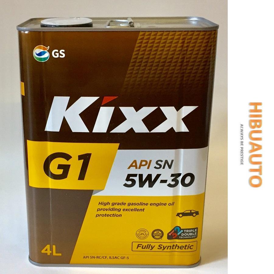 Dầu Nhớt Tổng Hợp Cao Cấp Kixx G1 SN 5W30 4L Thùng Thiếc Công Nghê Triple Double Có Giá Siêu Tốt