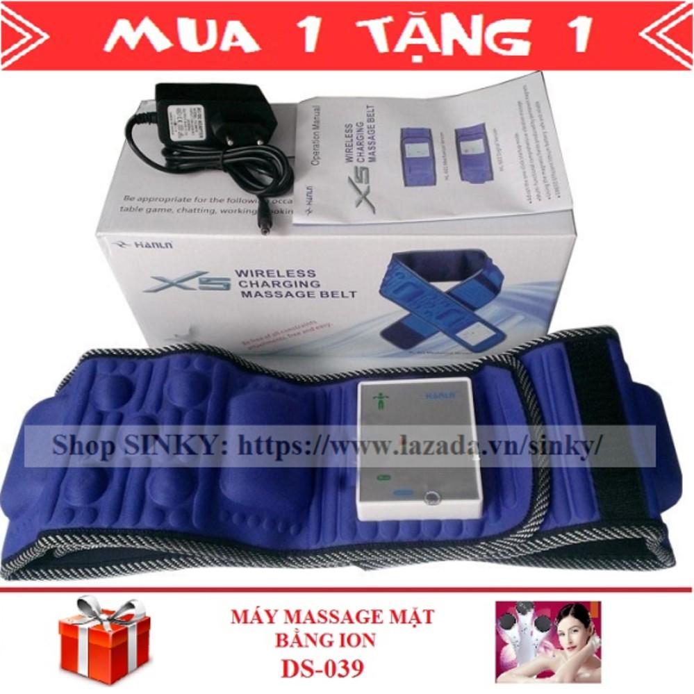 Chiết Khấu Đai Mat Xa Giảm Mỡ Bụng X5 Tich Hợp Pin Sinky Xanh Đen Tặng 1 May Massage Can Bằng Da Mặt Ds 039 Oem Hồ Chí Minh