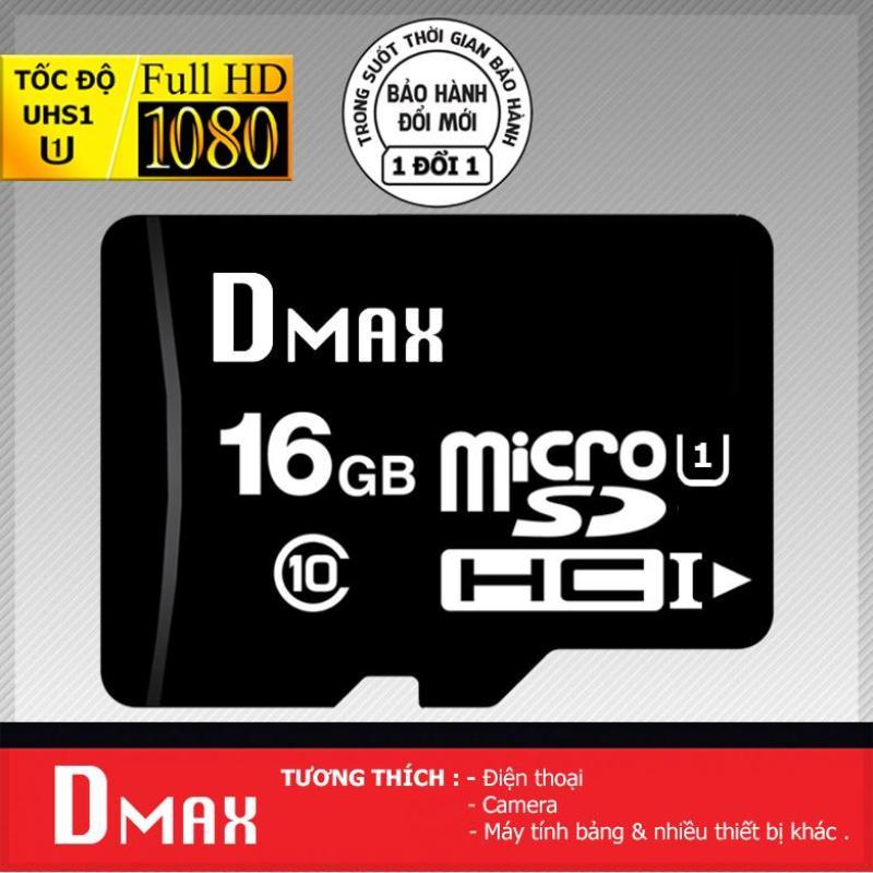 Thẻ nhớ 16GB Dmax UHS1 U1 Micro SDHC class 10 - Bảo hành 5 năm