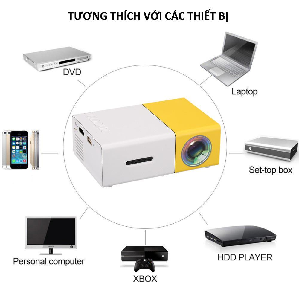 Hình ảnh Mua may chieu mini gia re,Máy chiếu màn hình LCD TFT HD1080 YG300 MINI LED kết nối nhanh chóng với các thiết bị Laptop, Smarphon, máy ảnh,….sale lớn 50%..7,