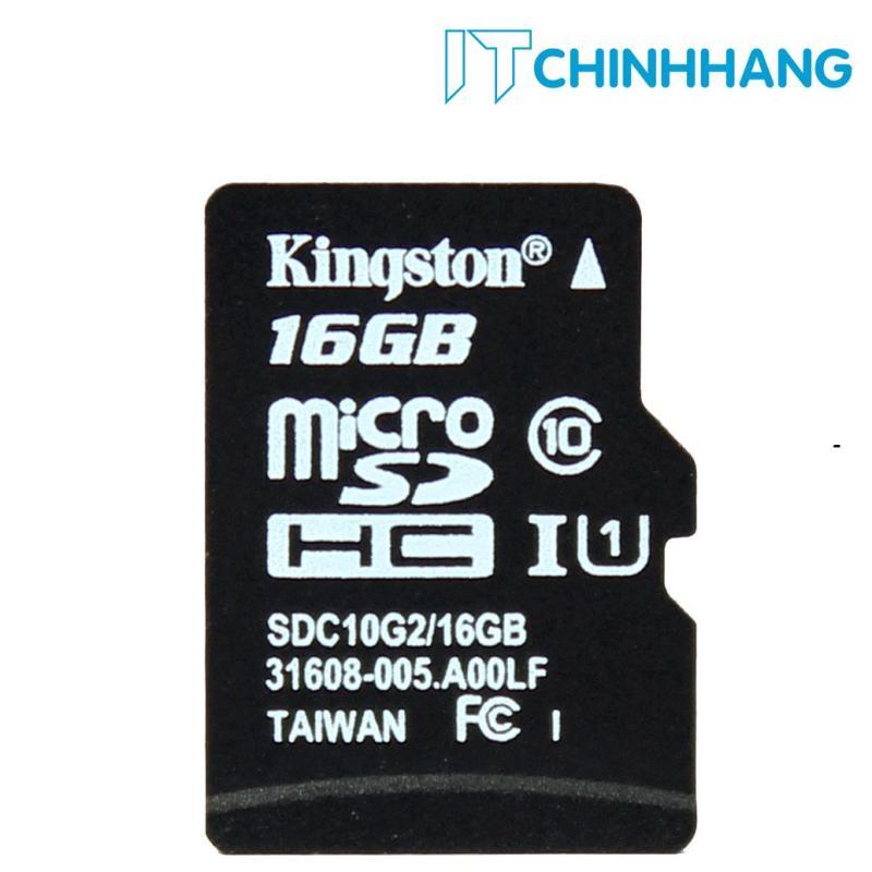 Thẻ nhớ 16GB Kingston up to 80mb/s SDHC C10 UHS-I SDC10G2/16GBFR - HÃNG PHÂN PHỐI CHÍNH THỨC