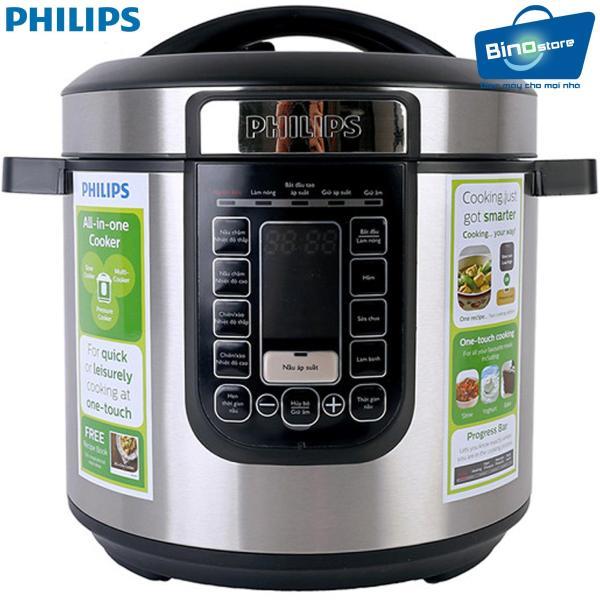 Nồi áp suất điện Philips HD2137/65 6L - Hàng nhập khẩu