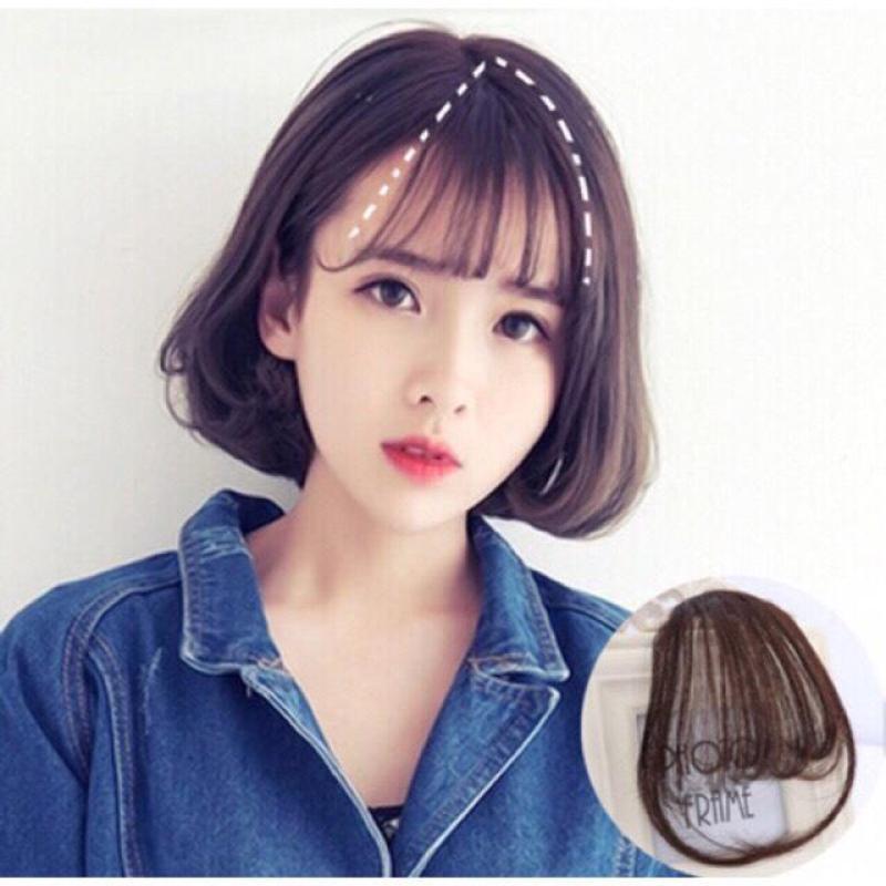 [ Màu Đen tự nhiên] Tóc mái thưa giả màu Đen có mai nhập khẩu