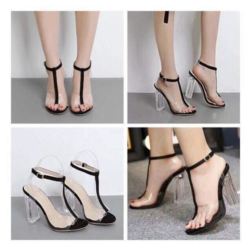 Giày gót vuông quai trong giá rẻ