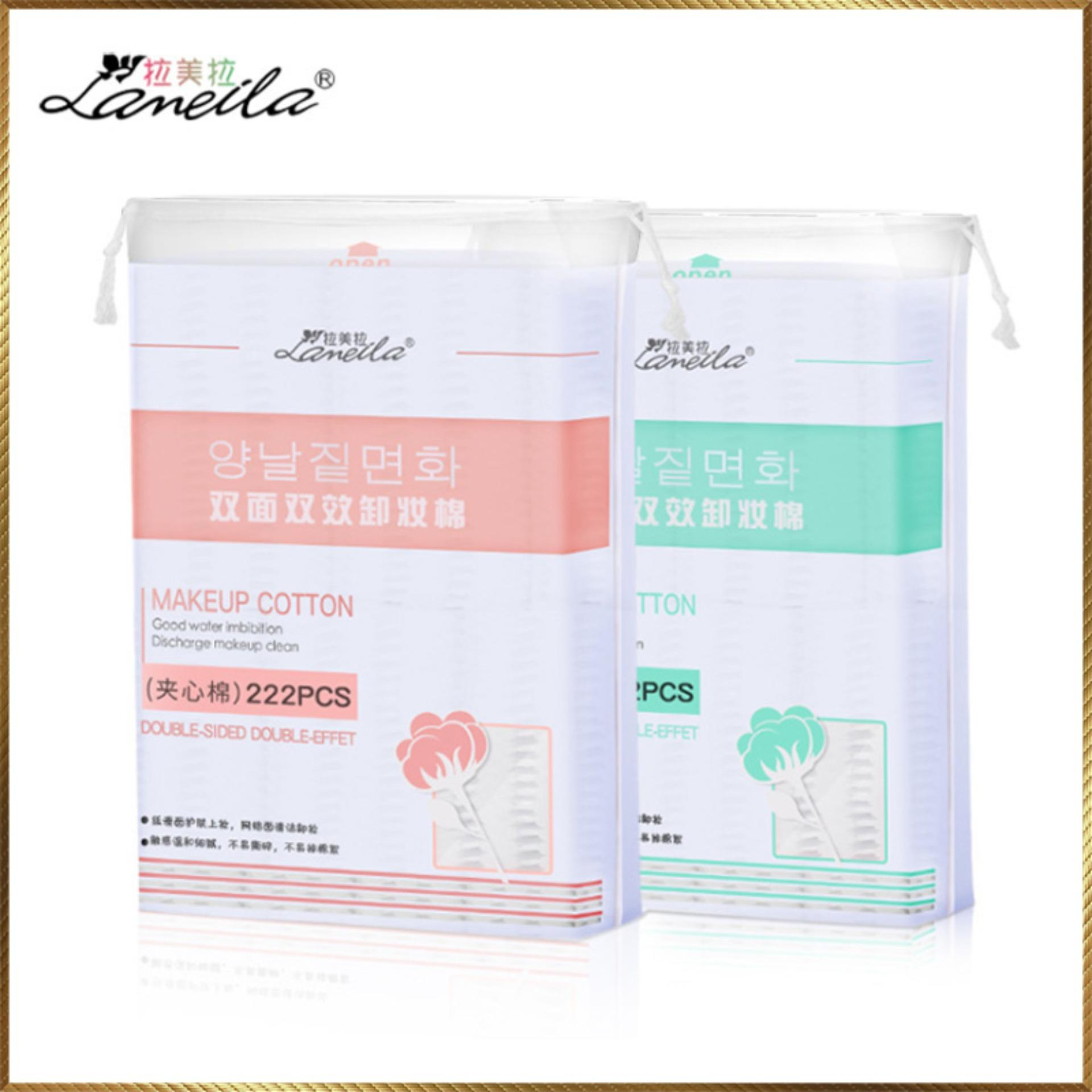 Bông tẩy trang Laneila túi 222 miếng BL33