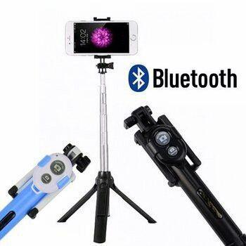 Hình ảnh Gậy tự sướng kiêm tripod 3 chân kèm Remod Bluetooth tiện lợi