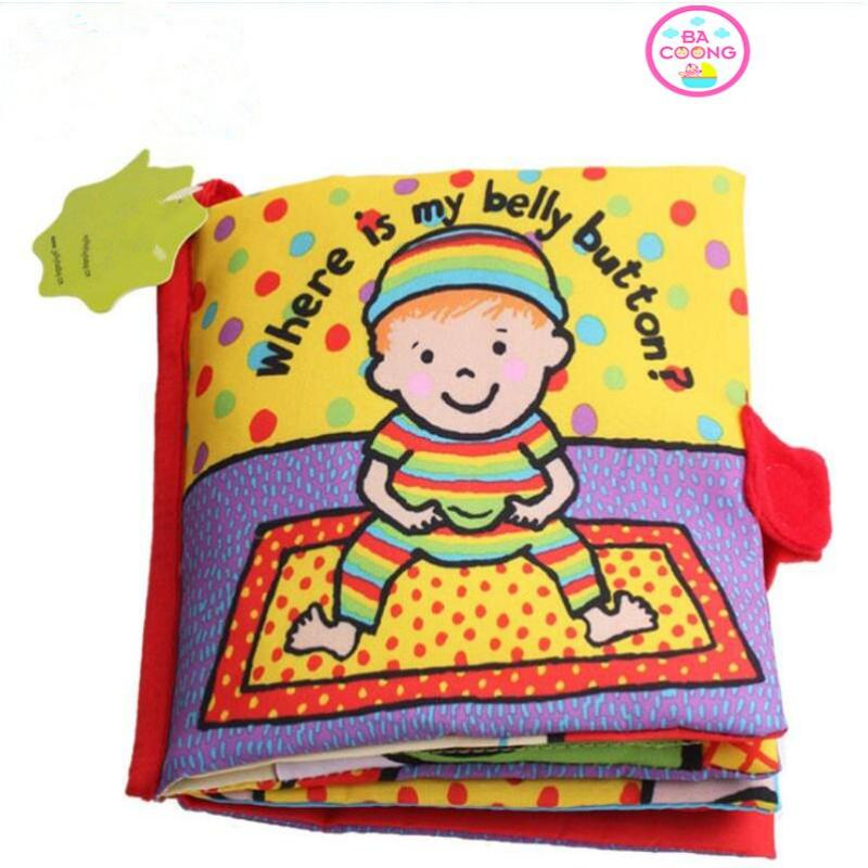 Sách vải nhận diện màu sắc WHERE IS MY BELLY BUTTON