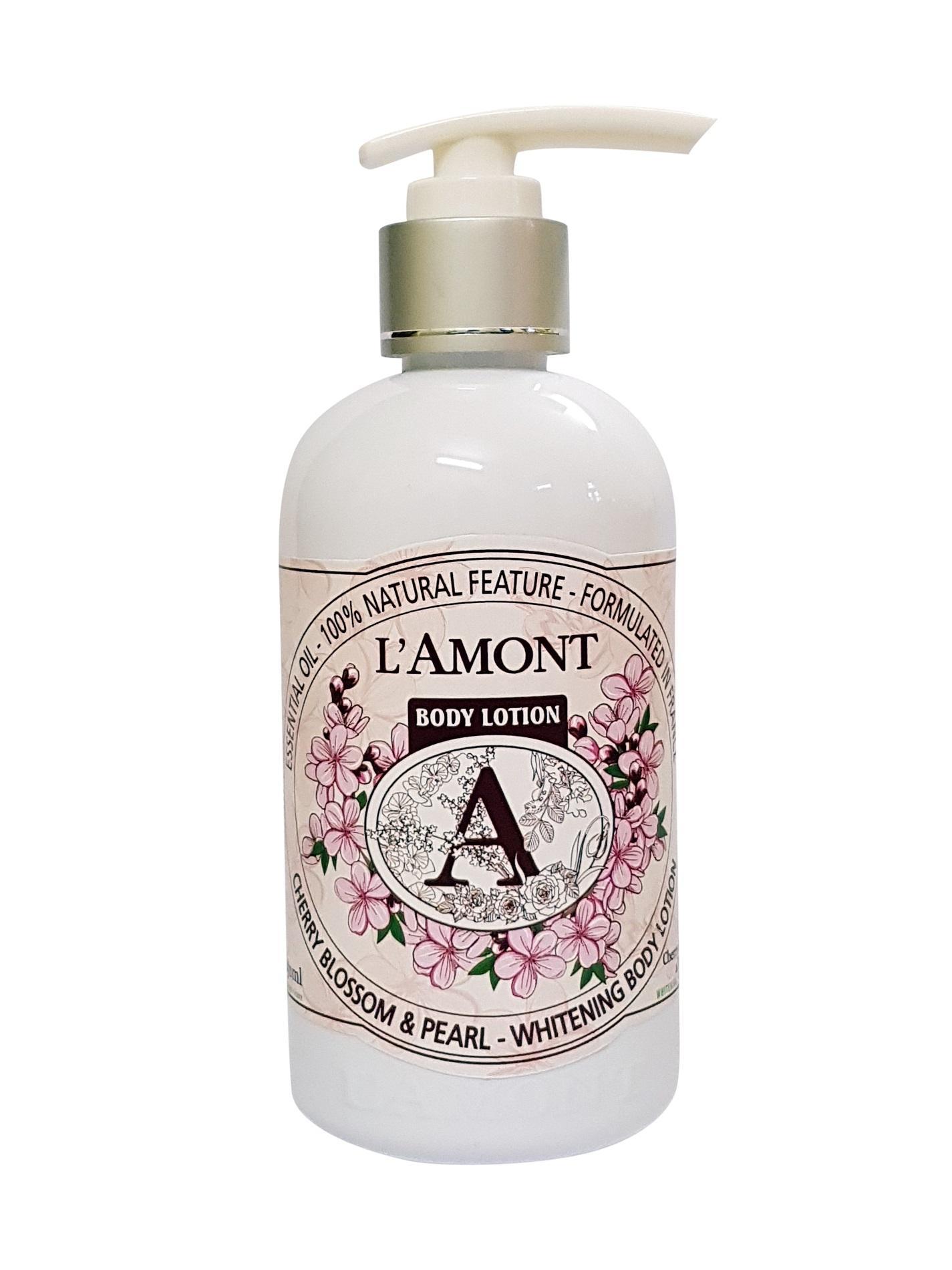 Sữa Dưỡng Thể Lamont En Provence Cherry Blossom & Pearl Whitening Body Lotion Hương Hoa Anh Đào Chai 250ml nhập khẩu