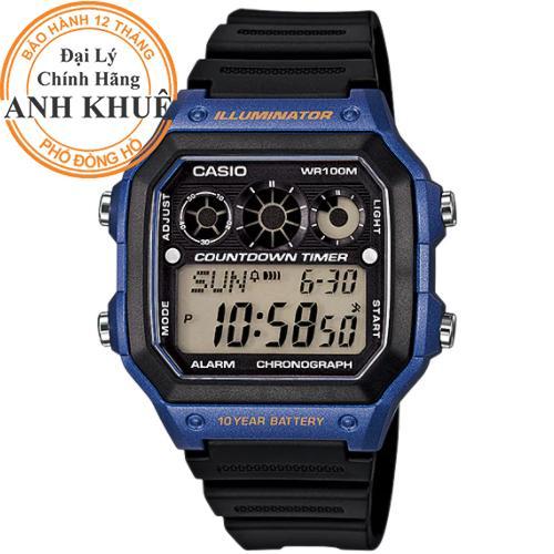 Đồng hồ nam dây nhựa Casio Anh Khuê AE-1300WH-2AVDF bán chạy